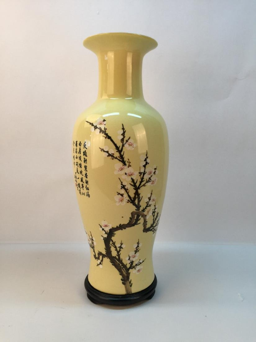 A porcelain vase with painting