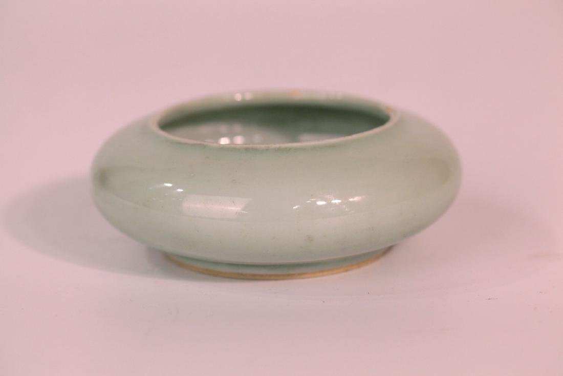 A chinese green glaze wash pot