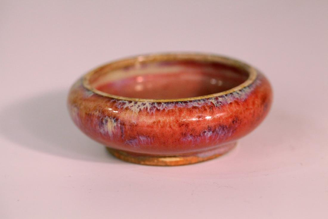 A chinese red glaze wash pot