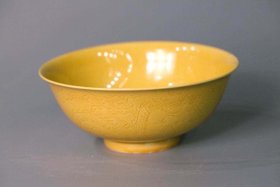 A chinese yellow glaze bowl