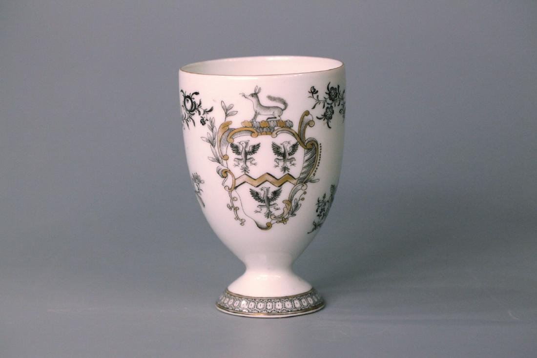 A chinese famille rose gold drawing cup