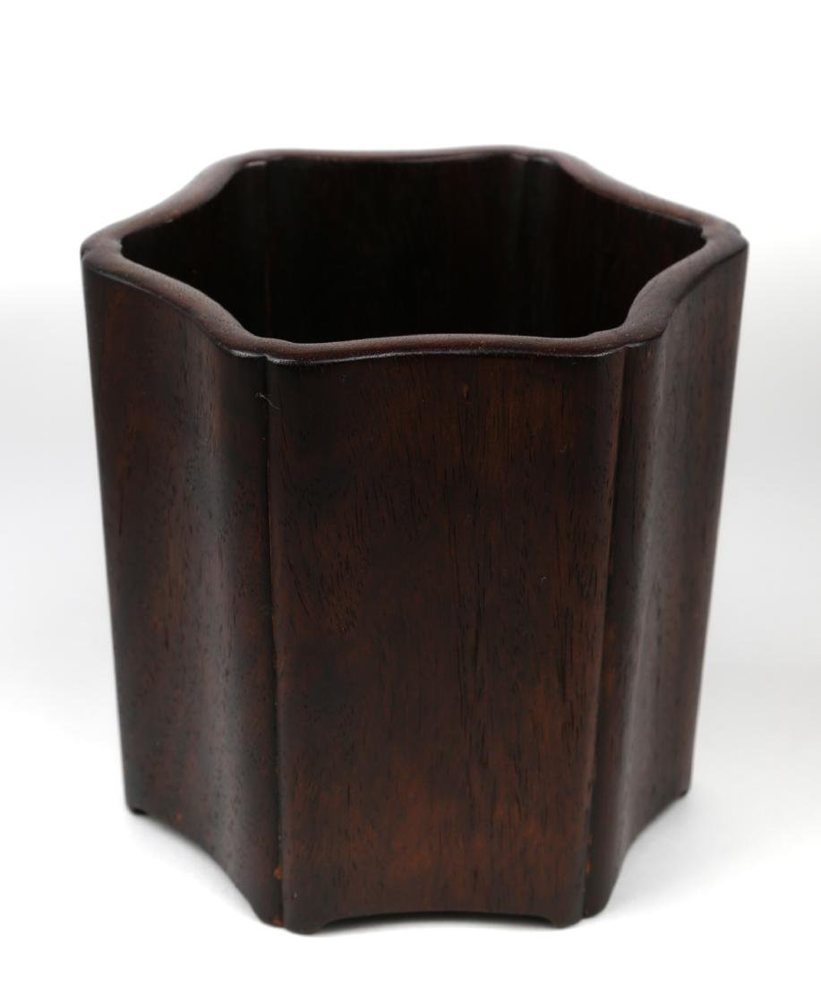 Chinese rosewood brushpot