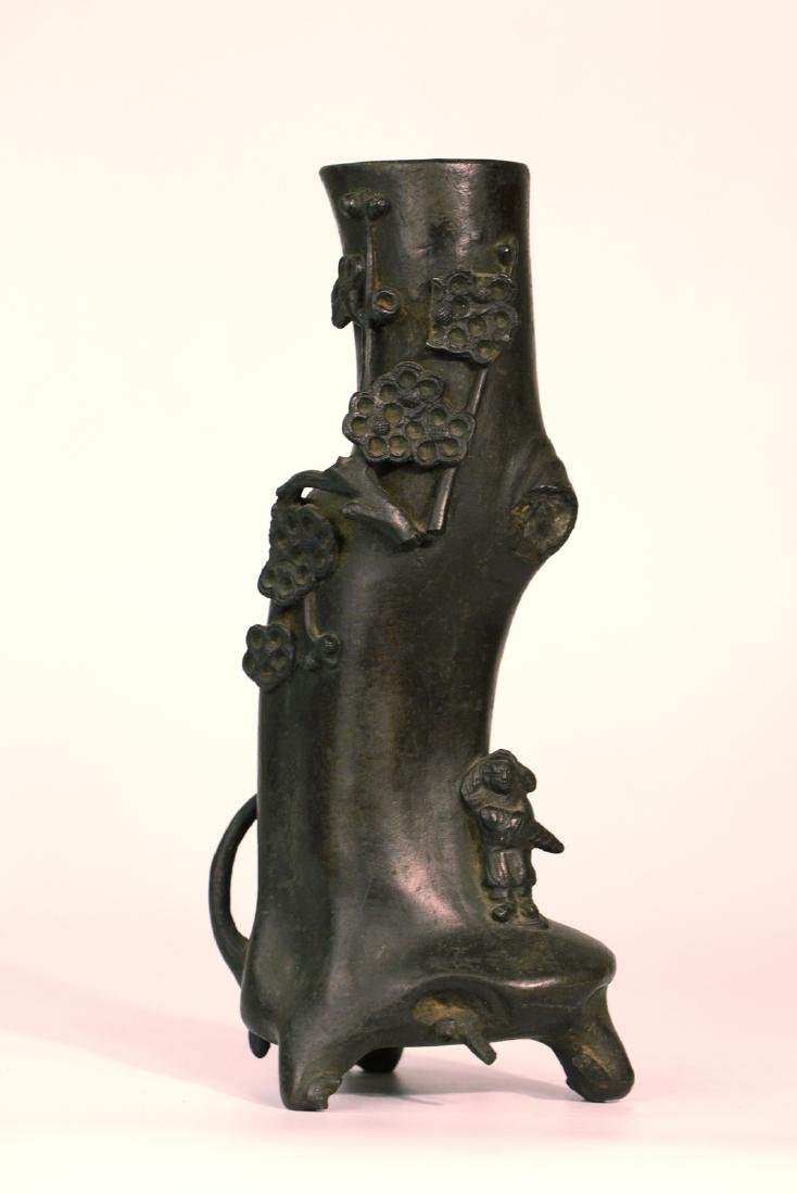A chinese bronze carved bottle