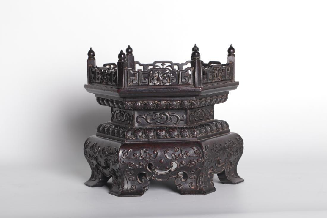 A chinese hardwood base