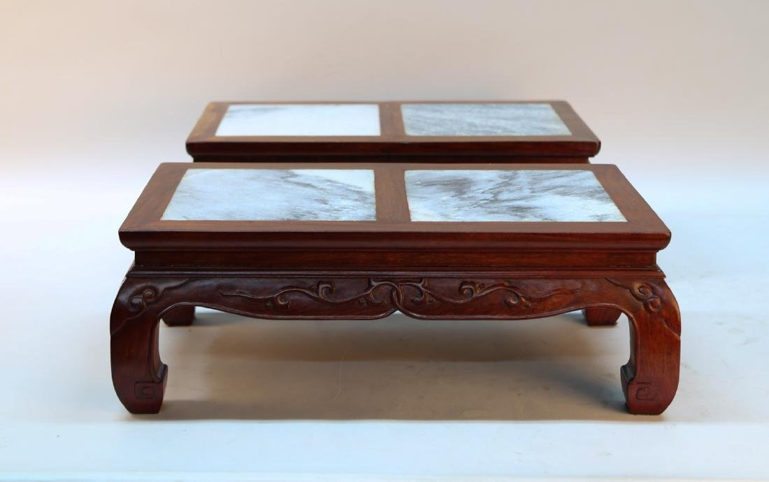 A pair of chinese rosewood small table