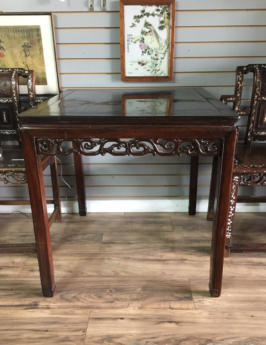 A chinese qing dynasty square table