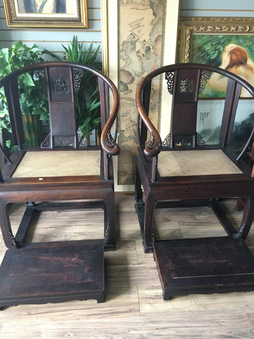 Pair of republic pd. arm chairs