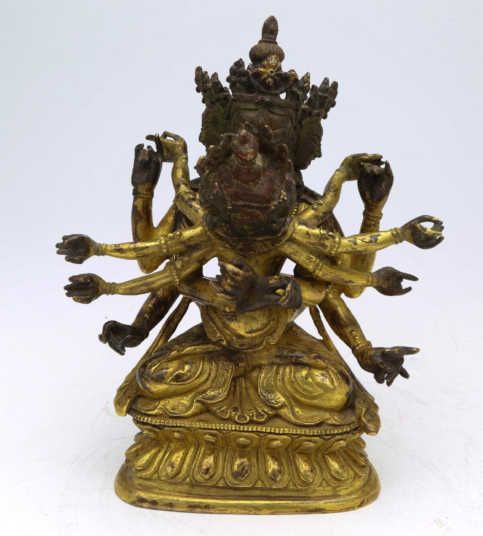 gold-plating copper buddha