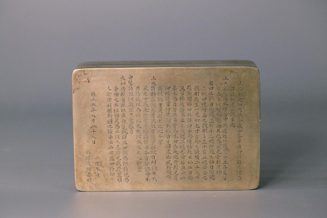 A chinese bronze carved box