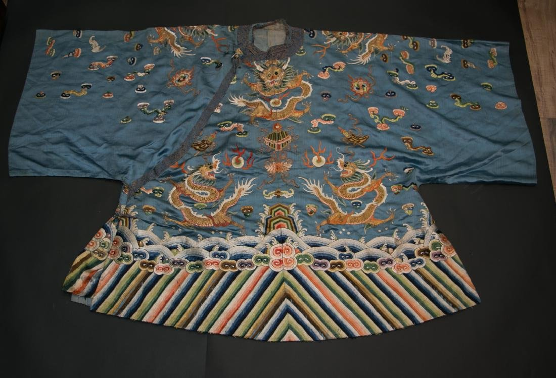 Chinese 18 century kid's dragon robe