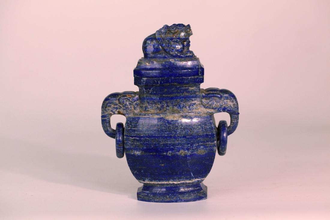 A chinese lazurite stone vase