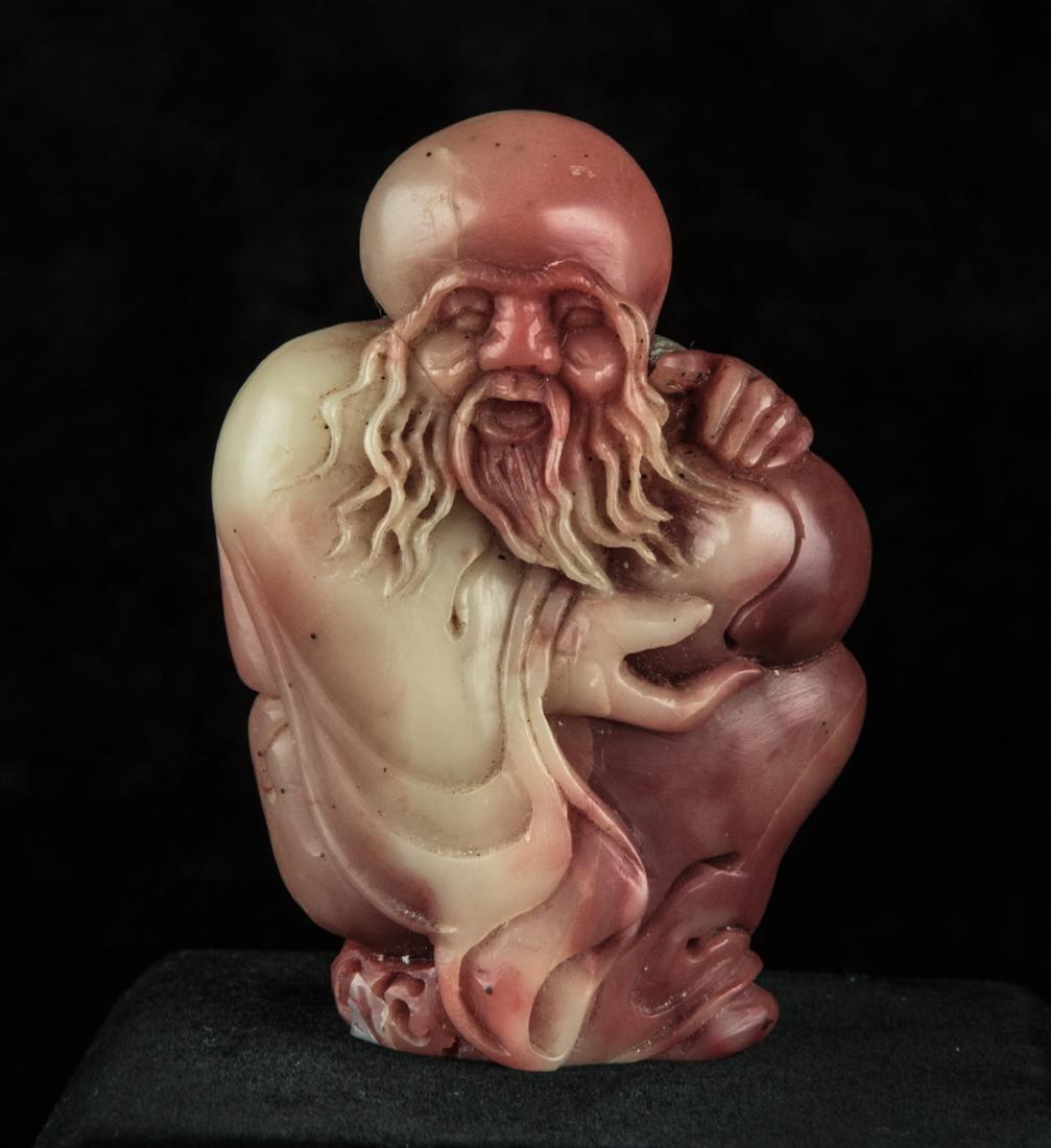 Chinese soapstone carved Laoshou