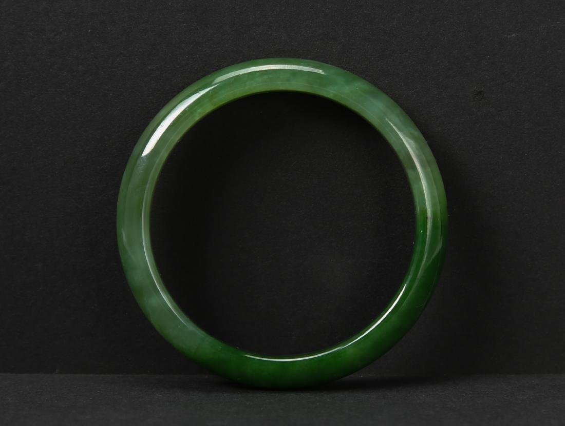 Green hetian nephrite bracelet