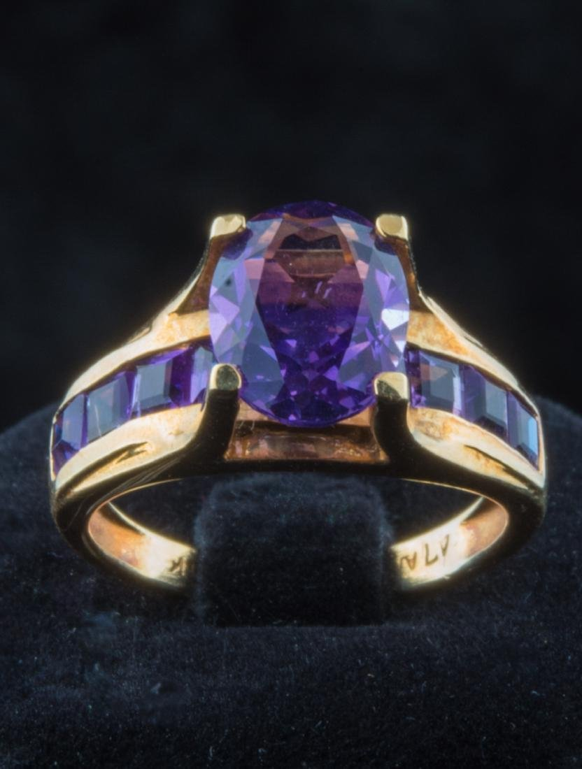 Amethyst gold ring. 14K