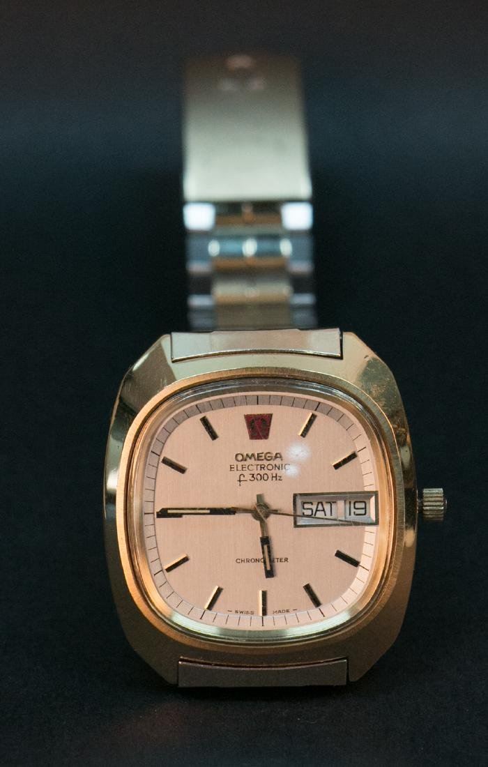 A gold filled omega watch