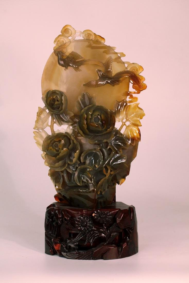 A chinese agate decoration