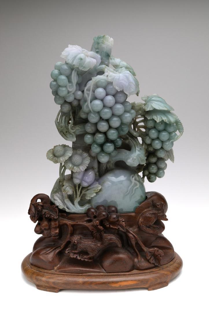 Chinese hard jade decoration