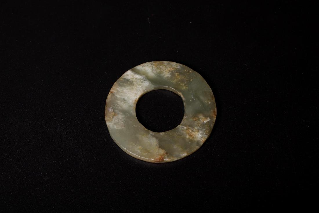 Chinese early stage annulus shape gray jade yuhuan