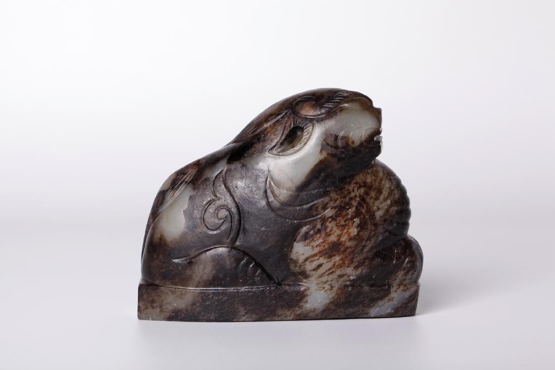Chinese 17-18 century gray jade