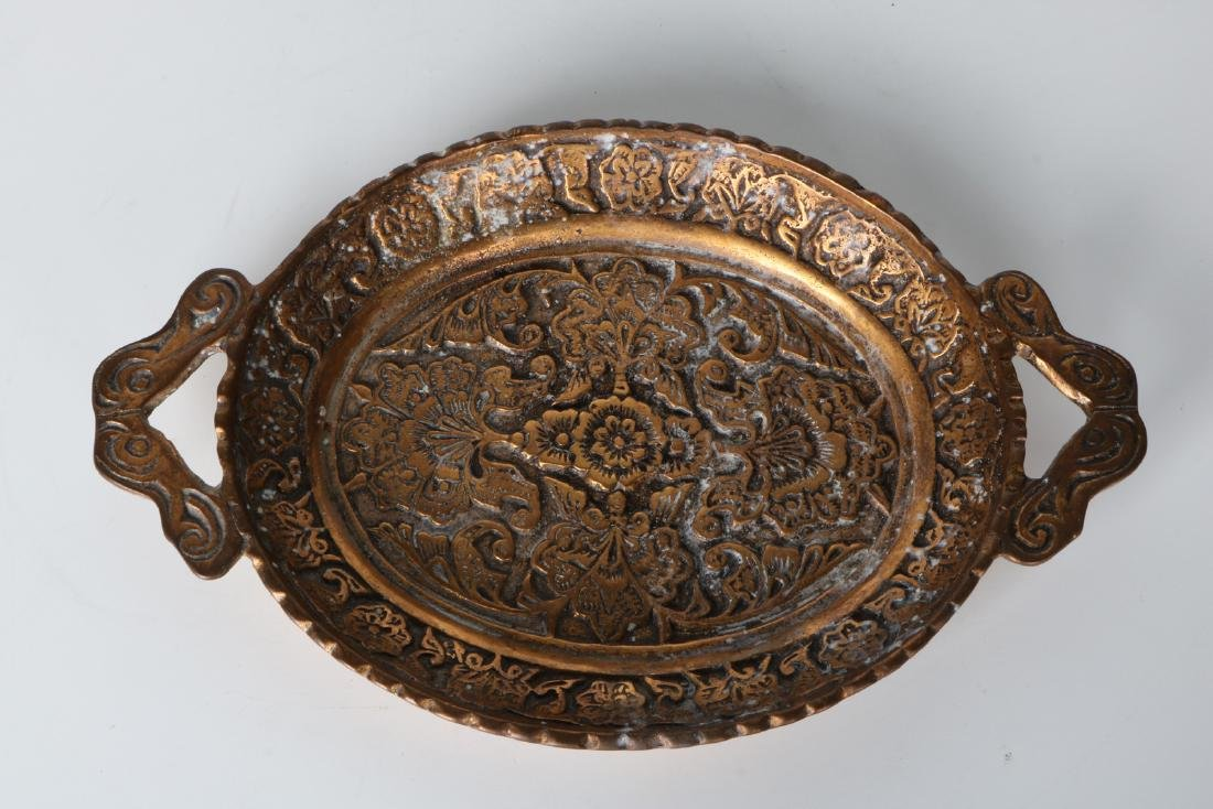 A Chinese bronze plate