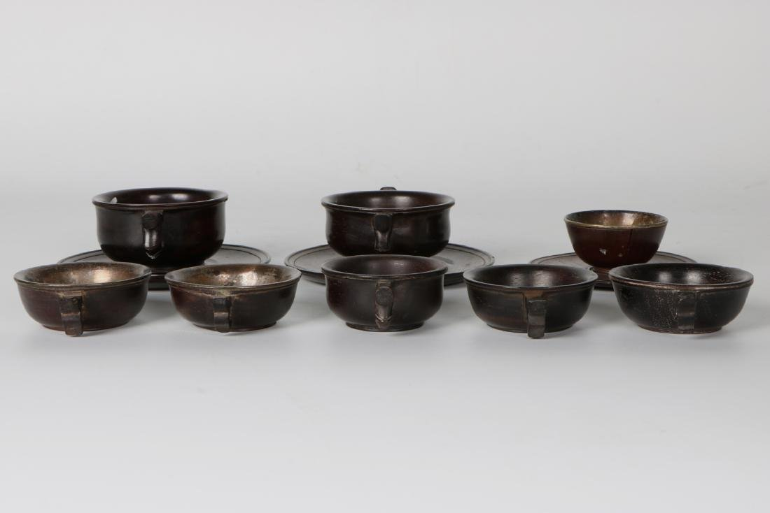 A group of chinese zitan cup