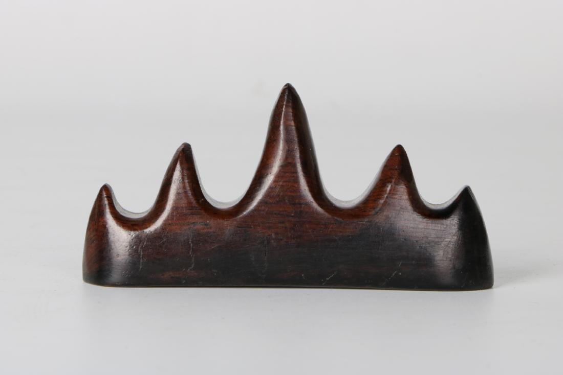 A chinese hardwood brush holder