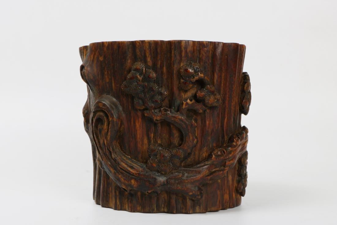 A chinese agilawood brush pot