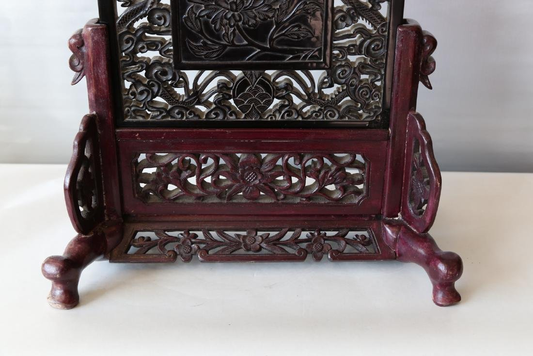 A chinese amber carved screen - 4
