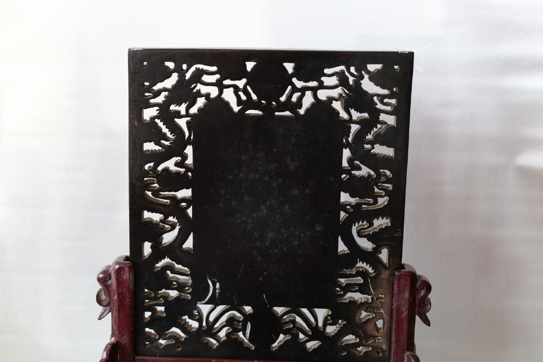 A chinese amber carved screen - 7