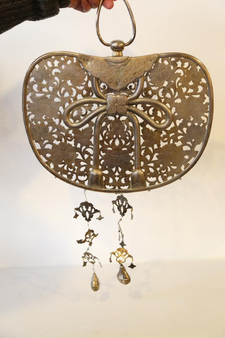 A japanese bronze pendant