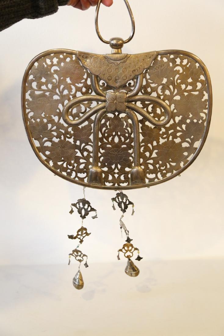 A japanese bronze pendant - 3
