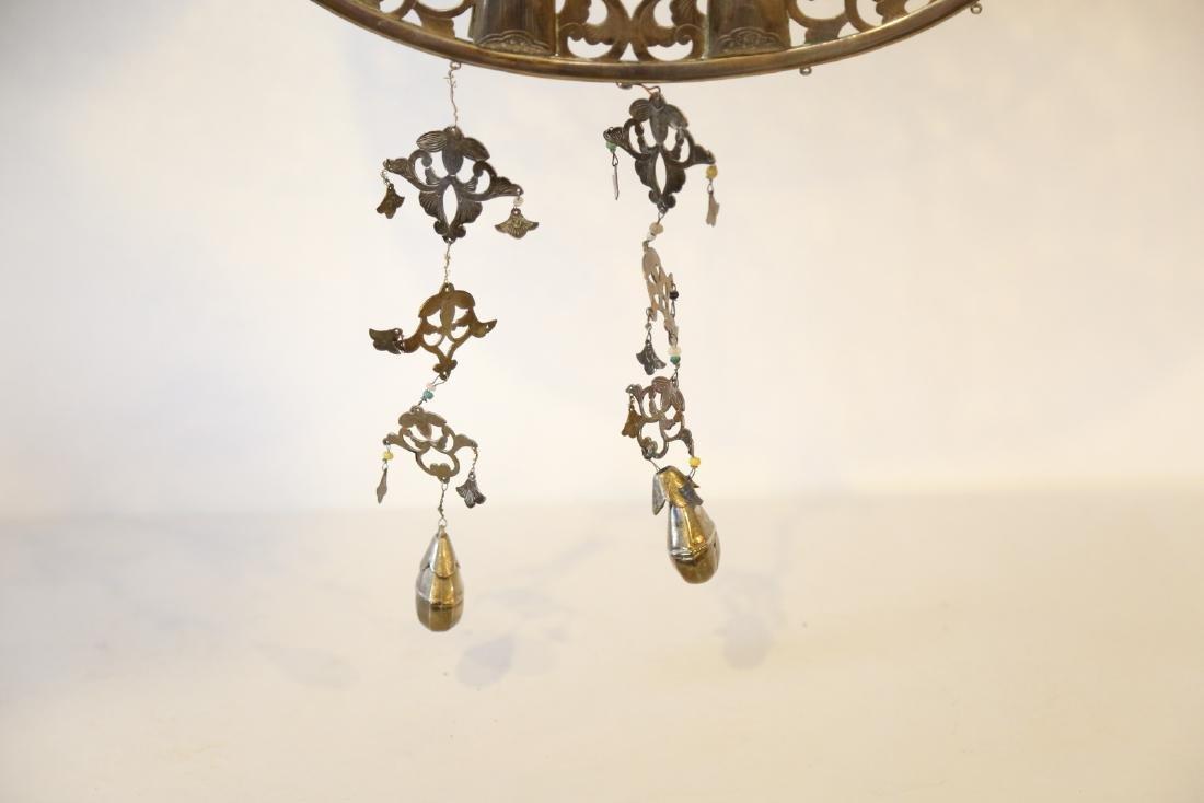 A japanese bronze pendant - 4