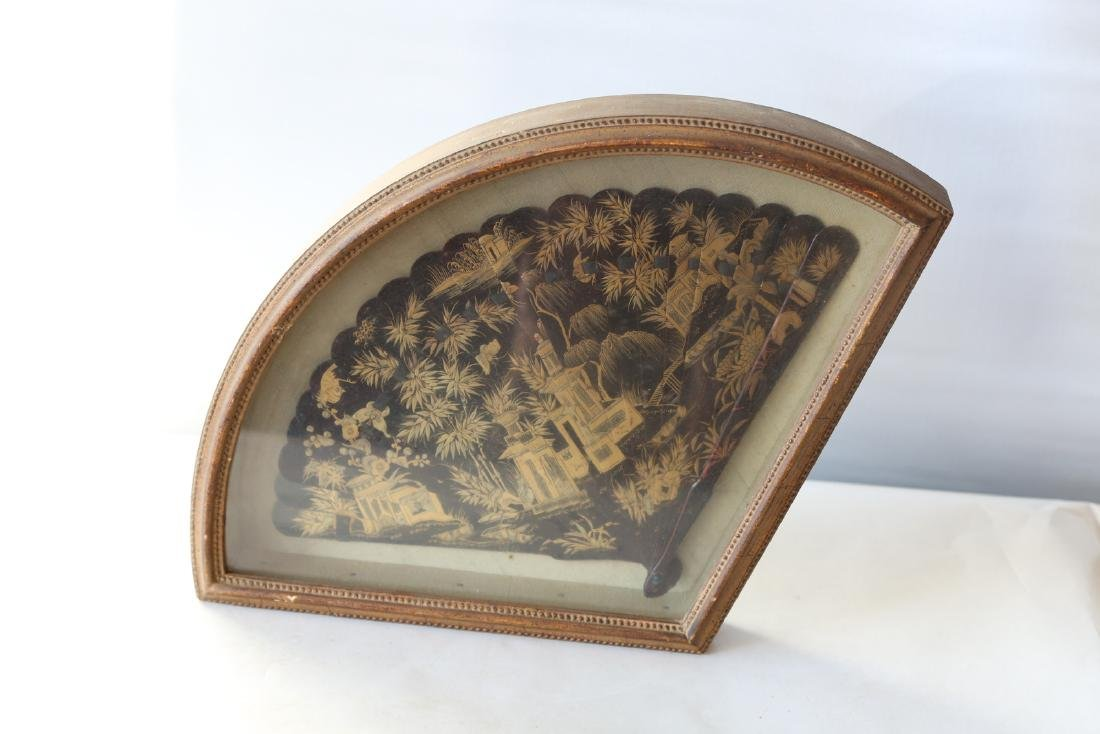 A chinese lacquer fan