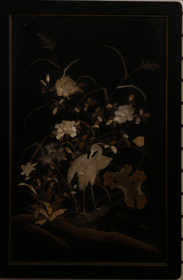 A japanese lacquer screen