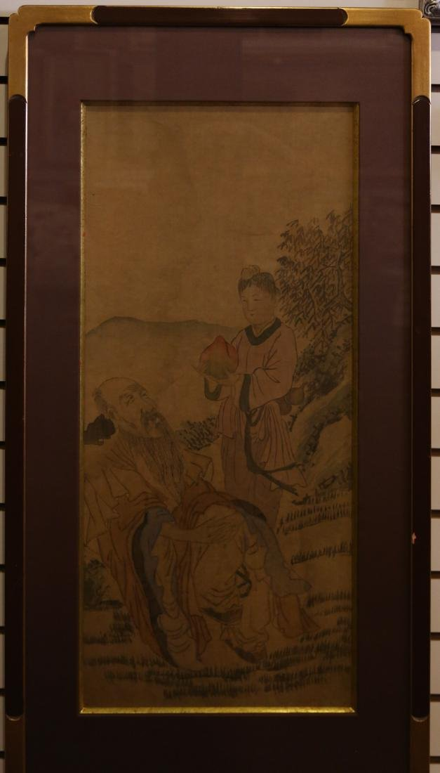 A chinese painting on paper