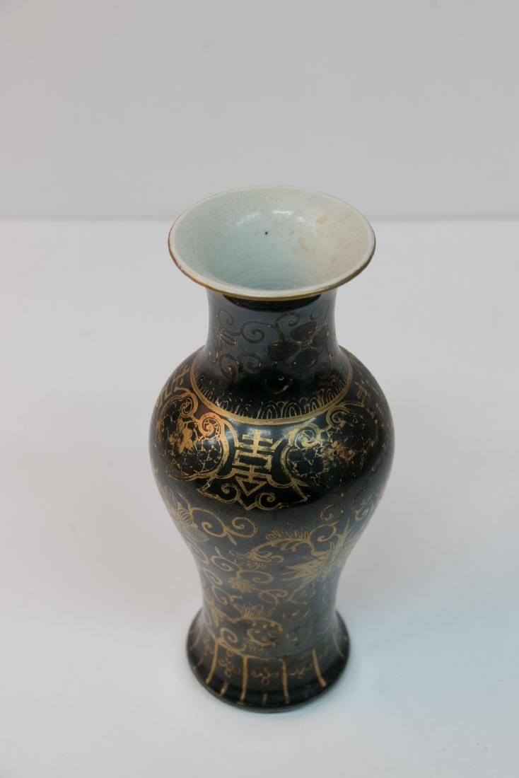 A chinese gold painting porcelain vase - 3