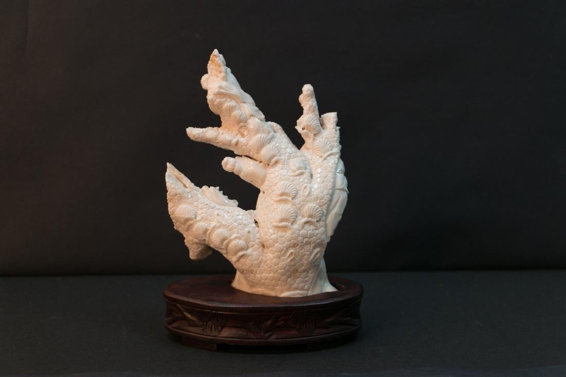 A chinese white coral decoration - 3