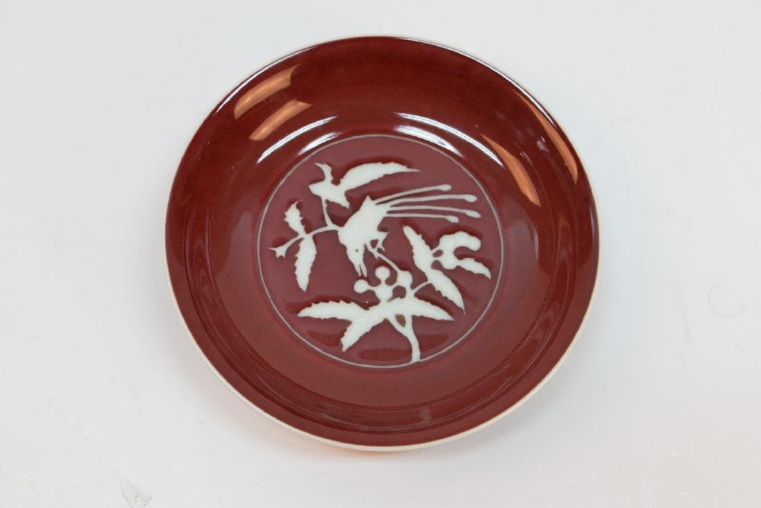 A chinese red glaze plate