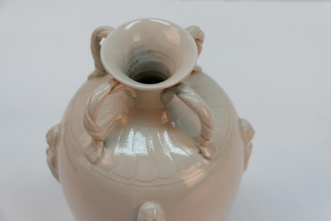 A chinese white porcelain four ear vase - 5