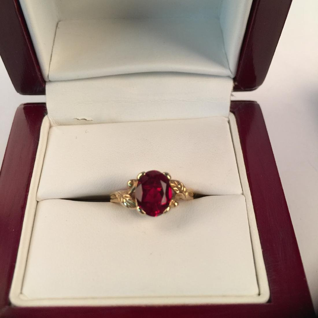 A 14k gold ruby ring