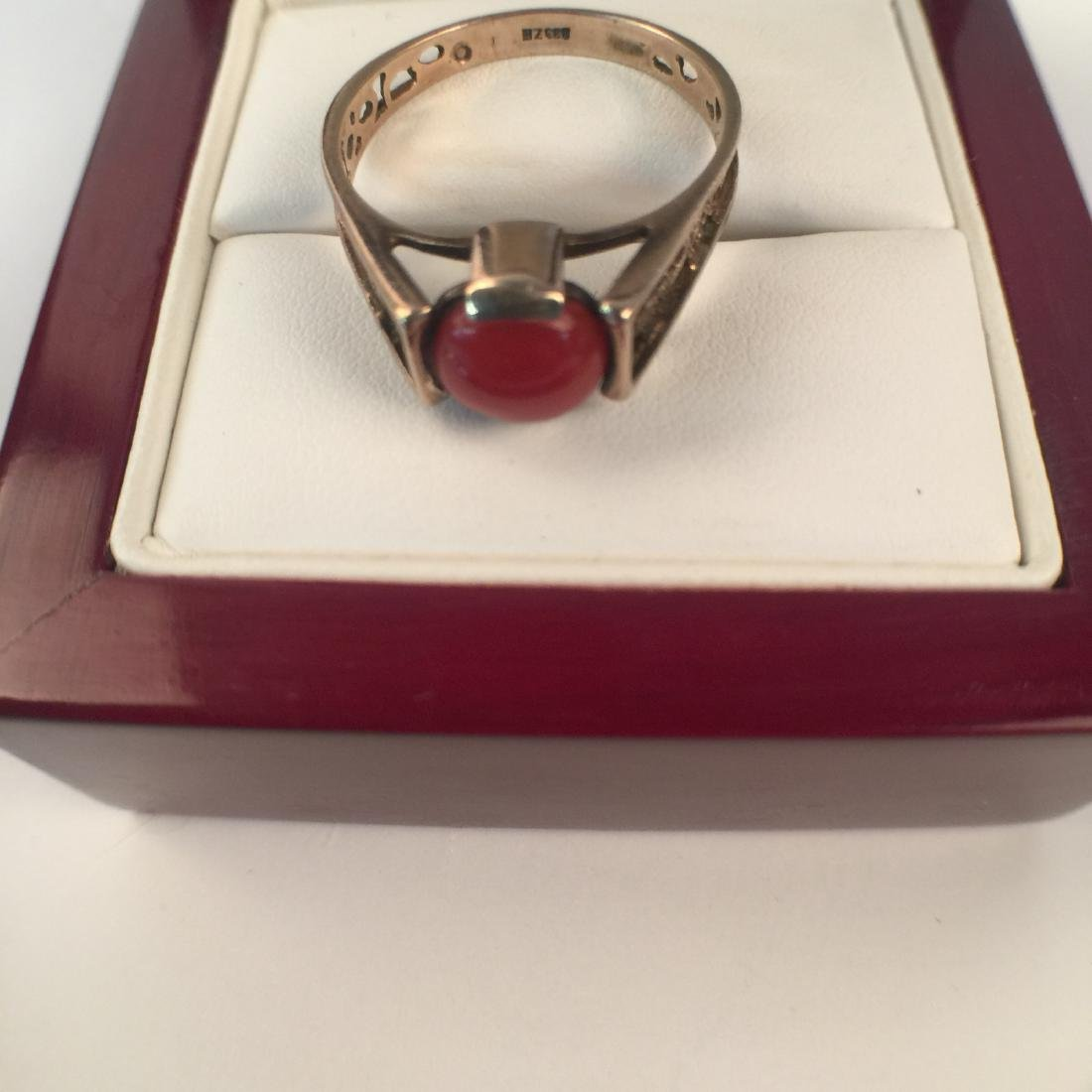A14k red coral ring - 3