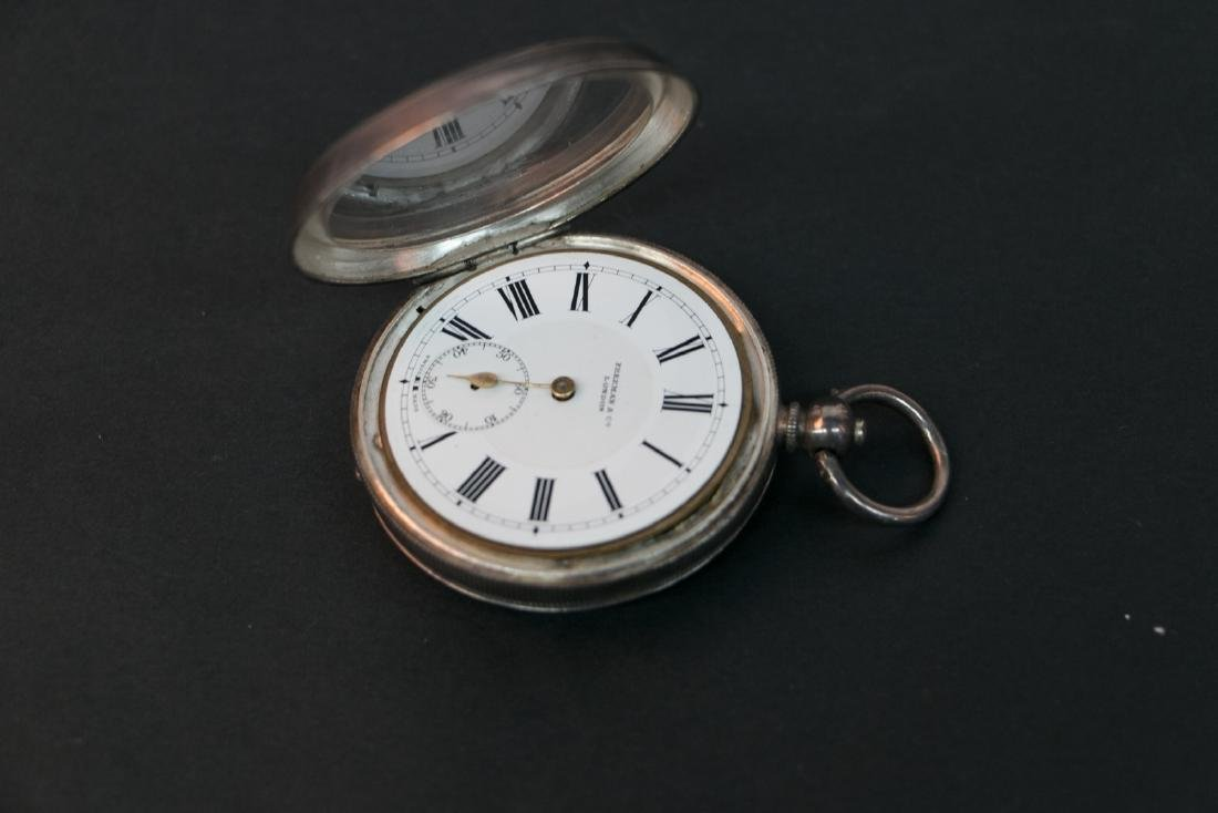 A United Kingdom silver pocket watch - 5
