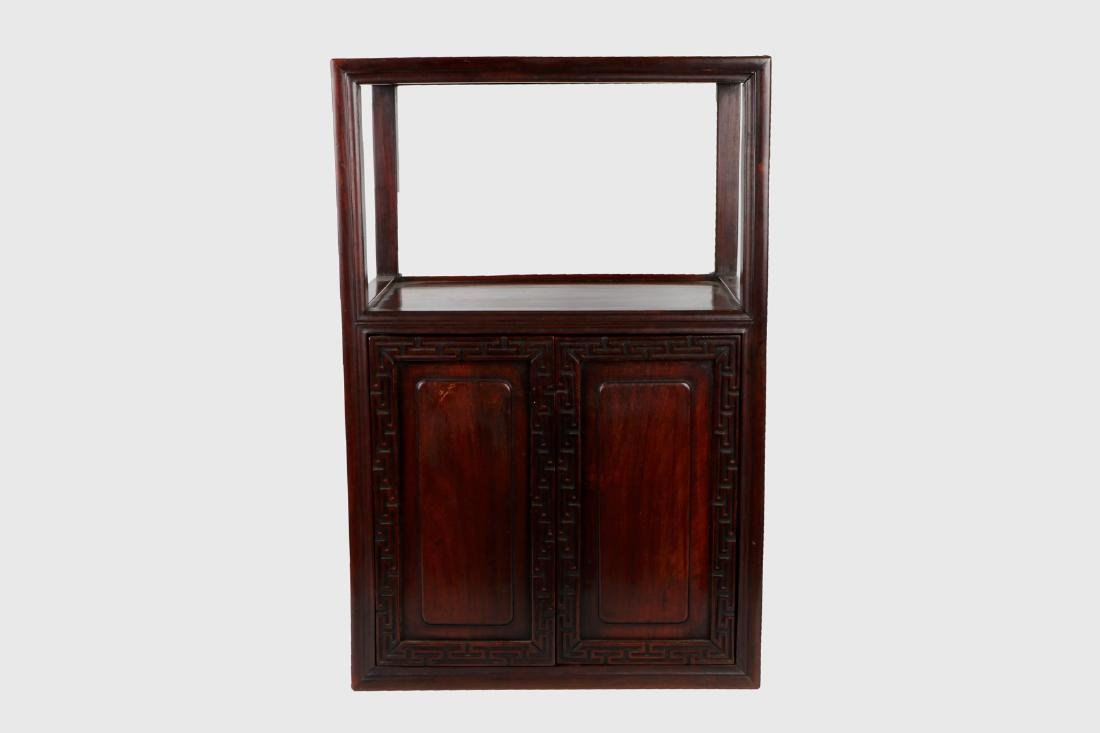 A chinese hardwood cabinet