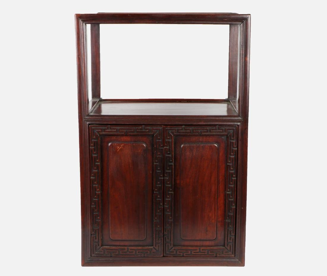 A chinese hardwood cabinet - 2