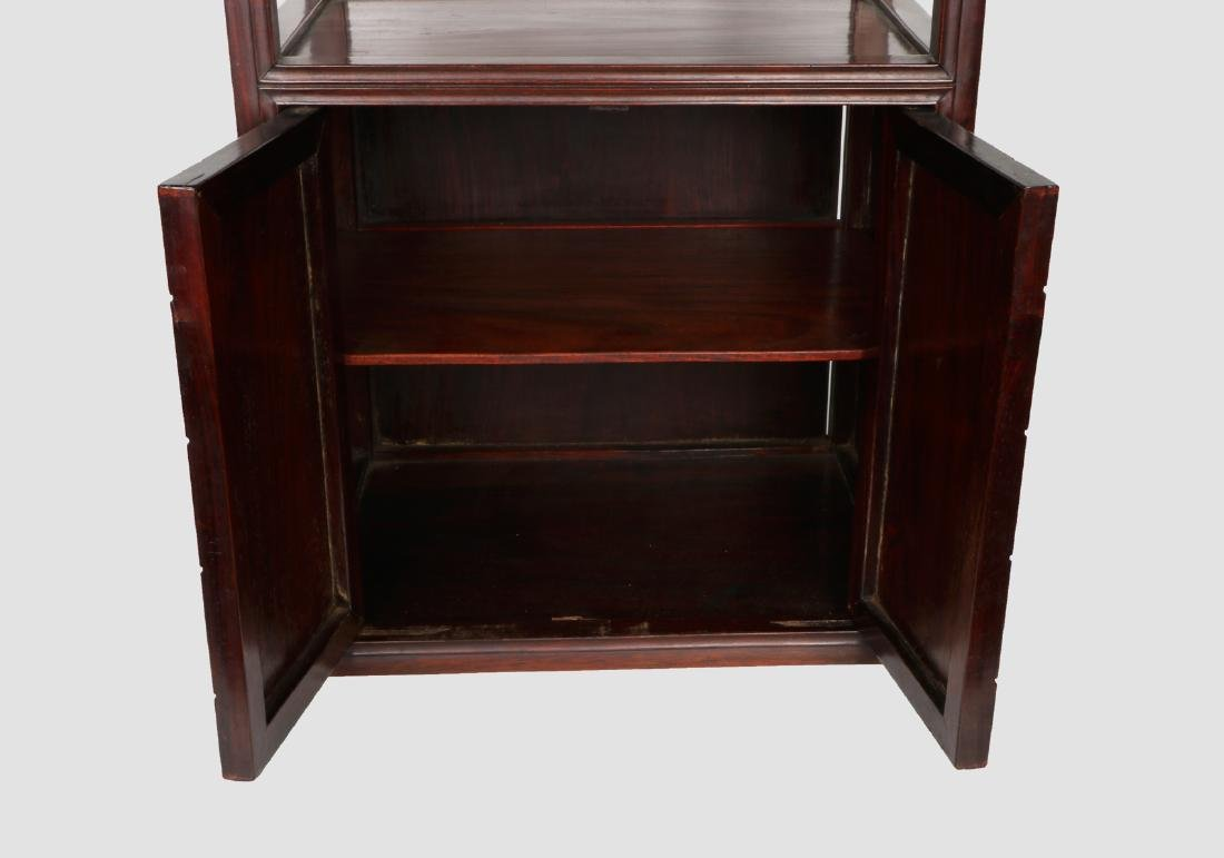 A chinese hardwood cabinet - 4