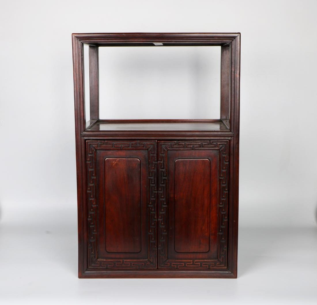 A chinese hardwood cabinet - 6