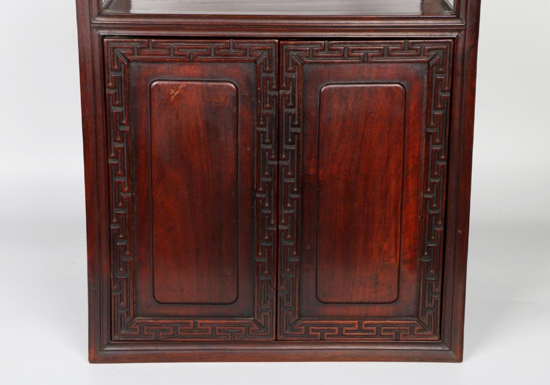 A chinese hardwood cabinet - 7