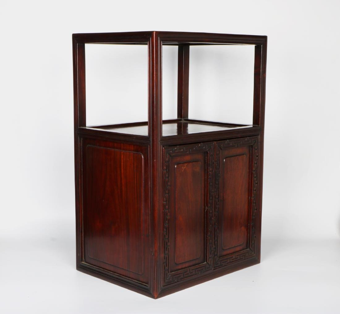 A chinese hardwood cabinet - 8