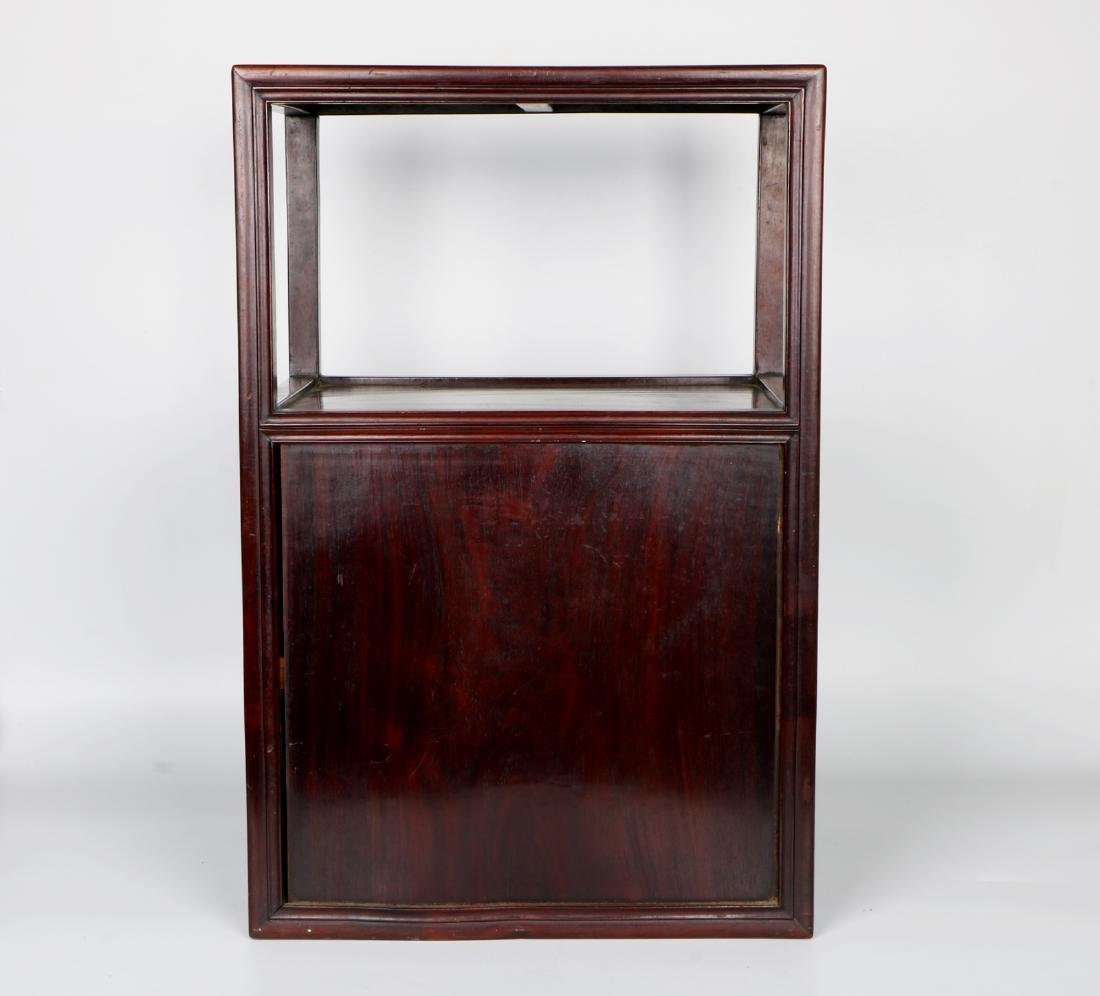 A chinese hardwood cabinet - 9