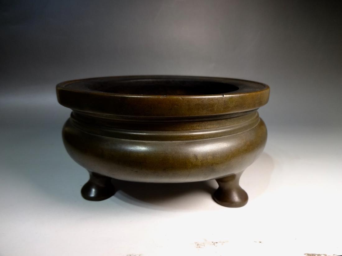 A qing dynasty bronze incense burner - 2